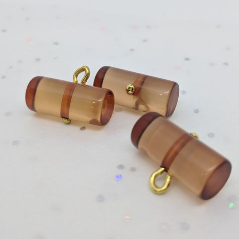 Amber Colour Button / Toggle / Transparent Roll