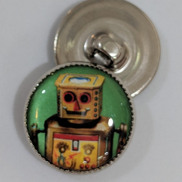 Vintage Robots / Gold Robot / Acrylic Dome