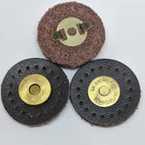 Snap fasteners / Magnetic / Brown Leather