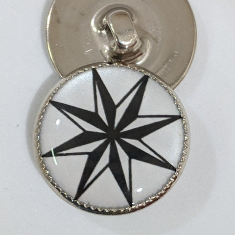 Black & White Nordic Star / Acrylic Dome