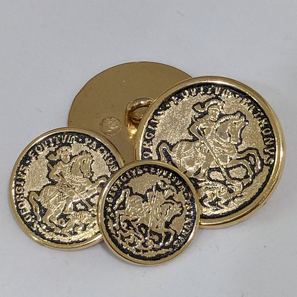 St George Blazer Button / Antique Gold