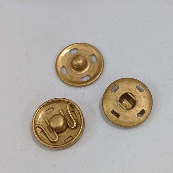 Snap fasteners / Decorative / Matte Gold