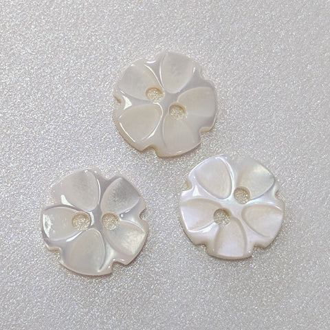 White Flower / Shell / Shirt Button