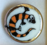 Button Orange / Gekko / Shiny