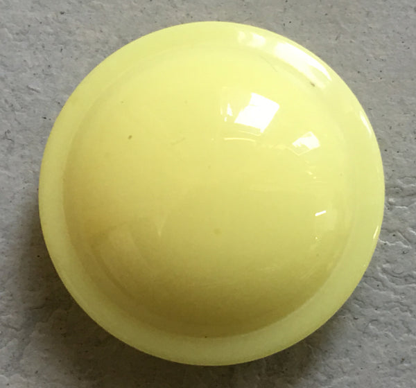 Button Yellow / Domed / Shiny