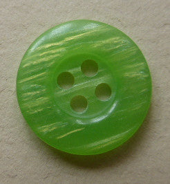 Green  (Lime)  / Pearly  / Shiny Button
