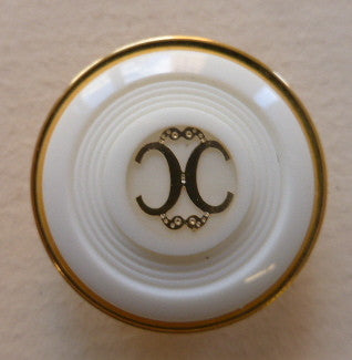 Cream (Gold) / Two C Design / Shiny Button