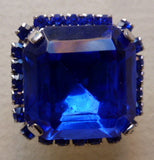 Button Royal Blue / Diamantes  / Shiny