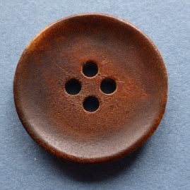 Horn Button Brown / Dished / Matte