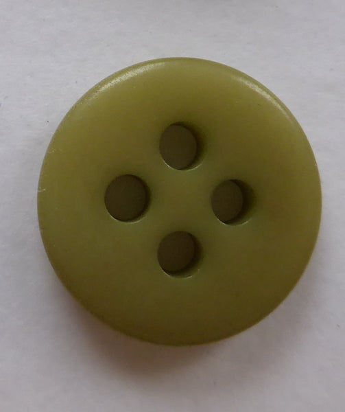 Dark Olive Green / Classical Flat / Matte Button