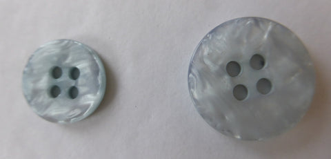 Iceberg  Light Green  / Marbled Pearly / Shiny Button