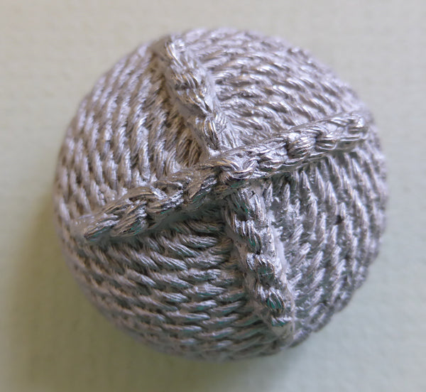 Button Silver Coil/ Rope Detail /Dome Shape / Matte