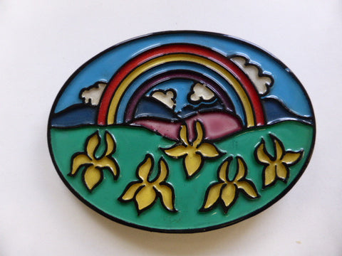 Flower Power Rainbow Buckle