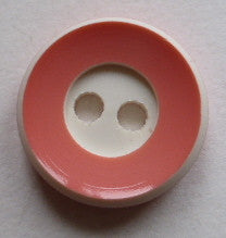 Button Orange (Cream) / Rimmed / Shiny