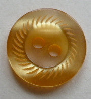 Button Orange (Mustard) / Whorls / Shiny