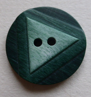 Button Green / Triangle /  Matte