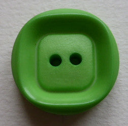 Button Lime Green / Square /  Matte