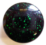 Button Green Speckled Shiny