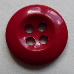 Red / Dished  / Shiny Button
