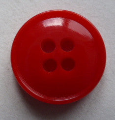 Red (Orange) / Rimmed / Shiny Button