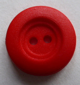 Button Red (Orange) / Two Rimmed / Matte