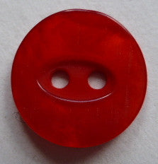 Red / Oval Shape Inset / Matte Button