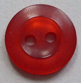 Button Red / Rimmed / Shiny