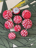 Liberty of London fabric covered buttons / Achilles Red