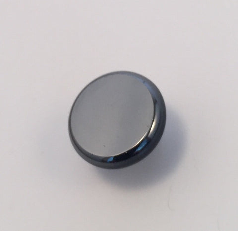 Gunmetal / Flat centre / Rounded edge / Glass