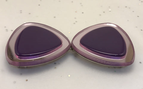 Purple mirrored edge funky Buckle (5cm diameter)