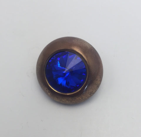 Gold / Blue Diamante Centre