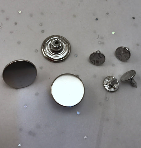 Nickel / Jean Buttons and Rivets / Tack Buttons