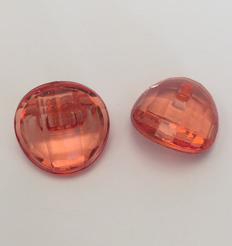 Red / Faceted / Domed / Shiny