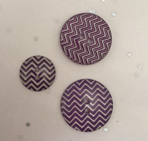 Purple and clear / Zig Zag