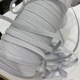 6mm Braided Elastic - White