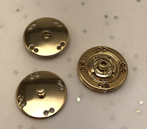 Snap fasteners / Decorative / Gold