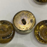 Featherston Button / Vintage / Glass / Marked
