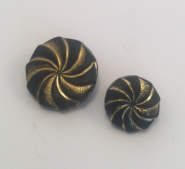 Black (Gold) / Swirls / Glass