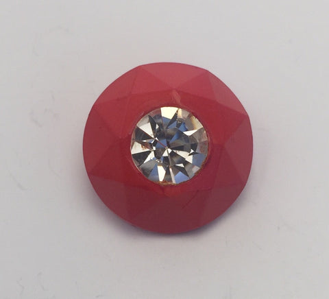 Red / Diamante Centre / Faceted edge
