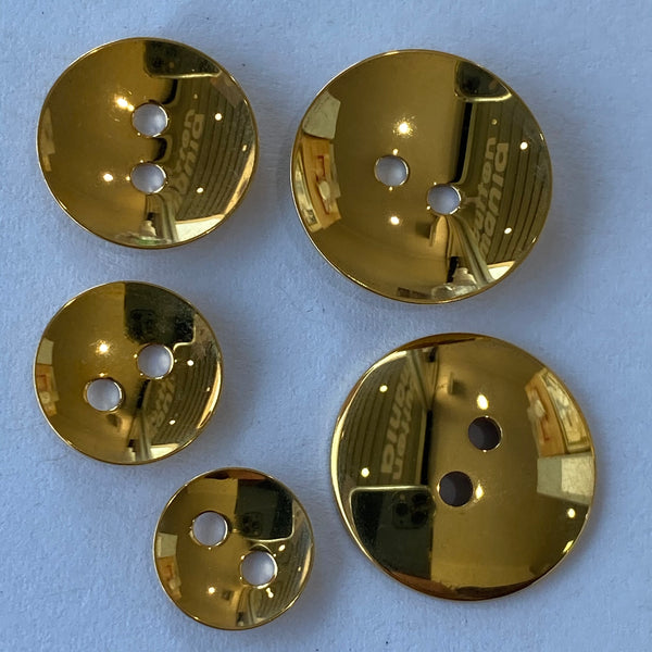 Gold / Metal / 2 hole / Shiny