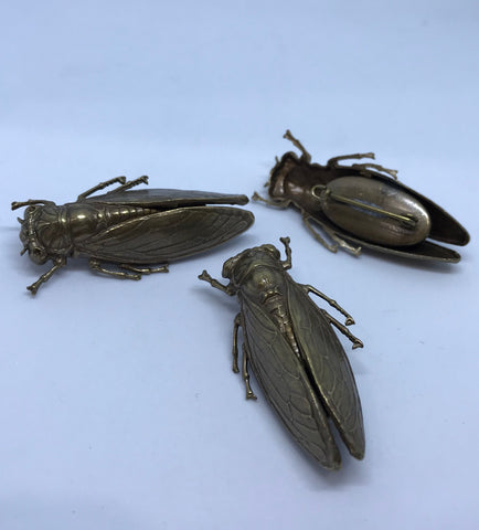 Metal Insect Brooch / Bronze