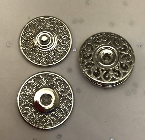 Snap fasteners / Decorative / Silver
