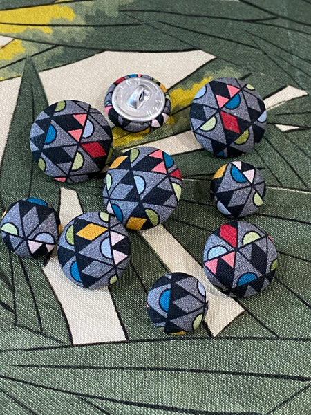 Liberty of London fabric covered buttons / Grenada