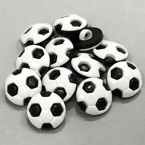Soccer Ball / Plastic / Black and White / Shank