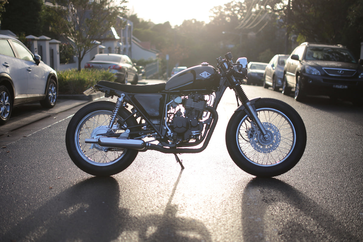 Black Beauty: Brett's Nemesis Cafe Racer