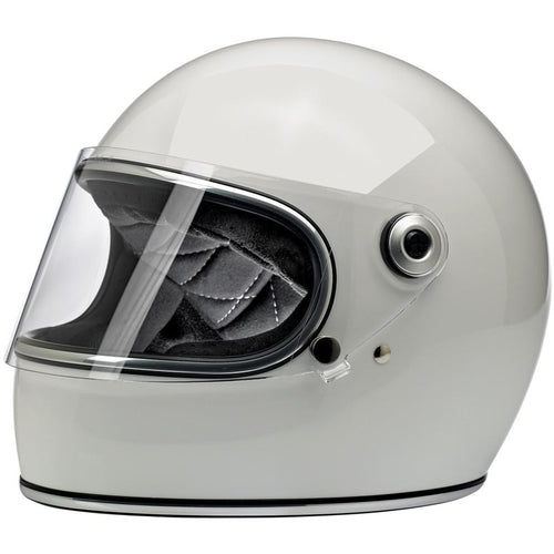 Biltwell Gringo Shield Helmet Gloss White