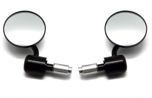 "CNC BLACK 3.5"" Bar end mirrors"
