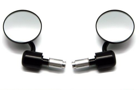 CNC BLACK 3.5inch Bar end mirrors