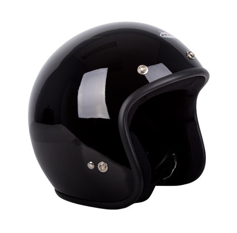 Challenger Open Face Helmet - Gloss Black