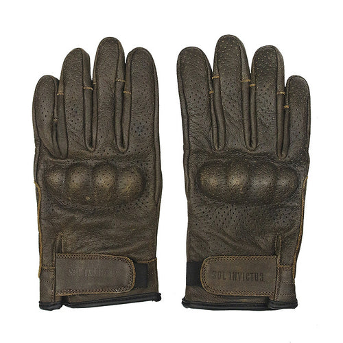 Sol Armoured Gloves - Brown